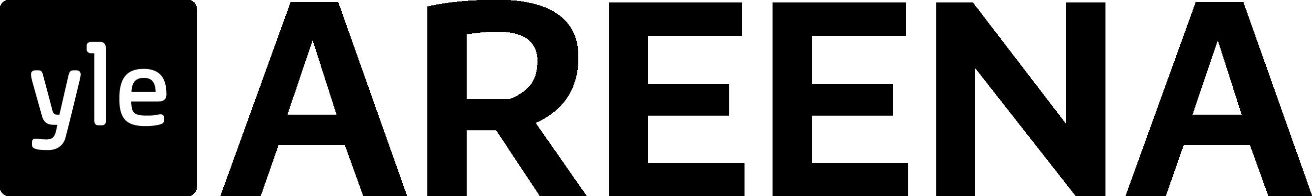 Yle Areenan mustavalkoinen logo