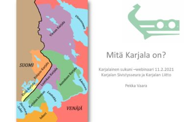 Karjalainen sukuni -webinaarisarjan ensimmäinen luento sai suuren suosion