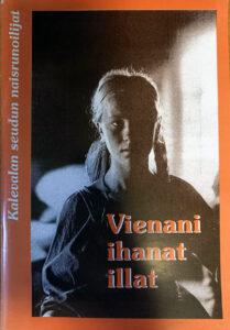 Kirjan kansi missä on nuoren naisen kuva ja punainen teksti Vienani ihanat illat
