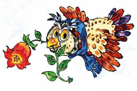 Piirretty pöllö